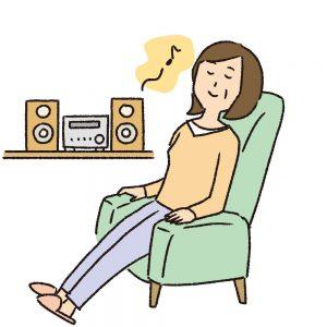 音楽を聴いてリラックス